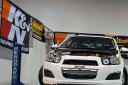 We like to use the best products available. K&N makes a great product so WCC's experience has always been very positive. WCC at the 2011 SEMA Show.
