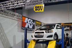 The 2011 WCC SEMA Booth showed the entire 7 Steps process, customers can select K&N intake systems for their vehicles.