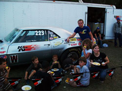 The Children Joined Jeremy Waibel for Dinner in the Pits