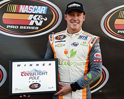 It was Daniel Hemric who earned the pole position and 21 means 21 Pole Award presented by Coors Light with his qualifying time of 20.796 seconds at 86.555 mph