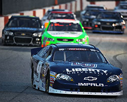 K&N Pro Series East, rookie William Byron maneuvered into the lead immediately after the start and held on all the way to the checkered flag