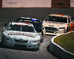 Gray Gaulding, having qualified 11th, brought the number 12 Krispy Kreme Doughnuts Toyota across the finish line