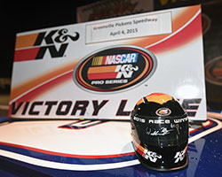 One autographed K&N Pro Series mini Bell replica helmet will be given away through K&N's official Twitter feed