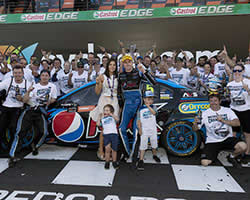 Mark Frosty Winterbottom won the first V8 Supercars title for Ford in five years