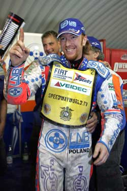 2006 World Speedway Champion Jason Crump, Photo by Mike Patrick