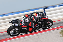 Kyle Wyman riding his superbike at Circuit of the Americas