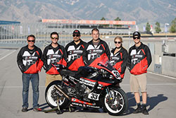 Kyle Wyman and his Team with his superbike