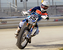 K&N air filters sponsored professional flat track racer Cory Texter racing Randy Texter's AMA national number 65