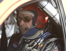 Racer Andrew Comrie Picard is leading the Rally America Series