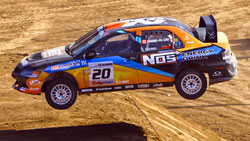 """K&N sponsored North American Rally Champion Andrew """"ACP"""" Comrie-Picard took third place overall, and the Bronze Medal at this year's unusually challenging X-Games."""