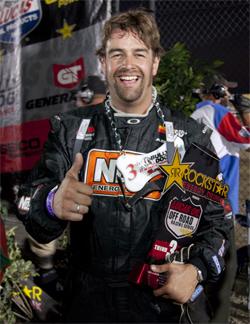 Podium finish at LOORRS Lucas Oil Off Road Racing Series for Andrew Comrie-Picard at Lake Elsinore, California