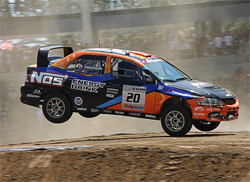 Mitsubishi Lancer Evolution IX driven by Andrew Comrie-Picard at the 2009 X Games 15