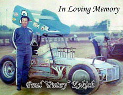 """Paul """"Putzy"""" Kekich, the family patriarch and the first Kekich to wheel a sprint car."""