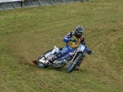 Ellis was also the only 250cc rider invited to participate in a grass track demonstration at the MTV Festival at Valleiles on the 23rd and 24th of July.