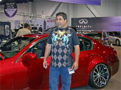 Manny de Encio of Automotive Design Concepts transported Infiniti from Huntington Beach, California to SEMA show in Las Vegas, Nevada