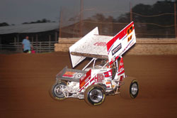 Tommy Worley is the driver of the #17 Winged Sprint Car. Photo by Kirby Laws.