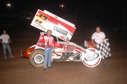 Owner Alan Barton and his #17 Winged Sprint Car. Photo by Kirby Laws.