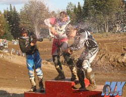 Alexandra Juteau recently celebrated her CMRX ATV MX Series Championship.