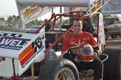 Jonathan Allard at Silver Dollar Speedway, photo by Steve Cox