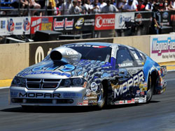 NHRA Pro Stock Driver Allen Johnson at Mopar NHRA Mile High Nationals