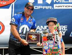 The first qualifying session was all that Johnson needed to get his bearings straight on what it would take to make his Team Mopar Dodge Avenger happy.