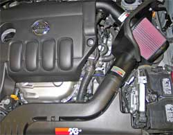K&N performance air intake system 69-7061TS installed on a 2007 and 2008 Nissan Altima