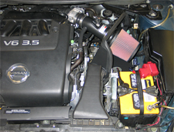 K&N air intake system 69-7062 installed in 2007 Nissan Altima