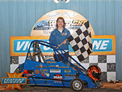 Winner's Circle First Place Result for Quarter Midget Driver Alyssa Riker