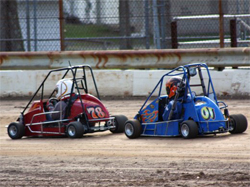 Quarter Midget driver Alyssa Riker wins both Honda 120 and 5 Horsepower Briggs Stock Heats and Features
