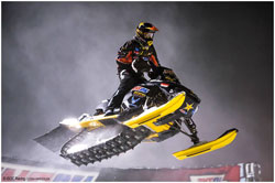 AMSOIL Championship Snocross combines the big-air jumps and exhilarating action of motocross, within a crisp winter environment.