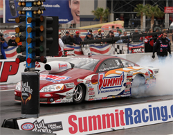 Three time Pro Stock world champion Greg Anderson will take the top spot for the 2009 NHRA K&N Horsepower Challenge