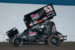 Andy Gregg's GUTS Racing kicked off 2013 in grand form, leading 9 of 10 laps at Marysville Raceway Park.