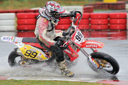 Austrian Supermoto Rider Andreas Simpson Rothbauer said he had the time of his life in finishing third overall this year