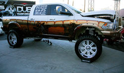 Andrew Lowe had one of the most eye-catching 4x4s at SEMA 2012