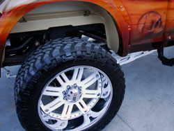 Ram 2500 sports 24x12 three-piece RBP Revolver wheels at SEMA
