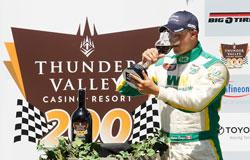 Andrew Ranger won the Thunder Valley Casino Resort 200 in Sonoma