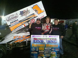 The F&F x1 Sprint Car in Victory Lane