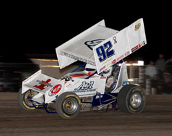 Experiencing a practically flawless race, Forsberg earned his second win of 2011 at the Silver Dollar Speedway