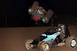 After recently rolling his car and sustaining a dislocated shoulder, the driver rolled into Placerville, California two weeks later, where he won the Civil War Series Championship.