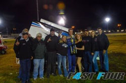 Andy Forsberg and the Owners of the 7c Cody Gainy PT Shocks 360 Sprint Car
