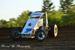 Andy Forsberg recently raced his 360 winged sprint car in the 410 race at a USAC Non-winged event at Calistoga speedway