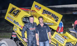 Gregg and his Scott Russell team earned a commanding victory in their second outing together at Marysville Raceway Park.
