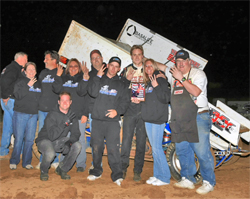 Andy Forsberg and the A&A Motorsports Team won a Sprint Car Division Race at the Red Hawk Casino Hoosier Tires Championship Race in Placerville, California