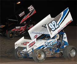 Racer Andy Forsberg was proud to make it to his 4th A-Main with the World of Outlaws at the Gold Cup Race of Champions