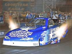 Jeff Arend in blue CSK car