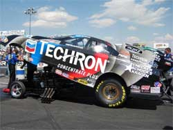 Jeff Arend's Funny Car at Bandimere Speedway