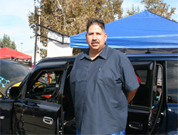 Art Gonzales of San Fernando Valley in California embraces the California car culture lifestyle at the DUB magazine D-DAY L.A. Show