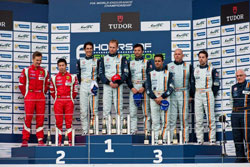 Aston Martin Racing conquered the GT Pro podium with first and third place.