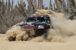 The ATRacing Team Driving Through the Silt