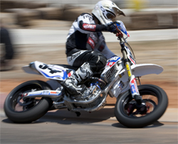 Testing 2008 Honda CRF 450 for the X Games at Adams Kart Track in Riverside, California